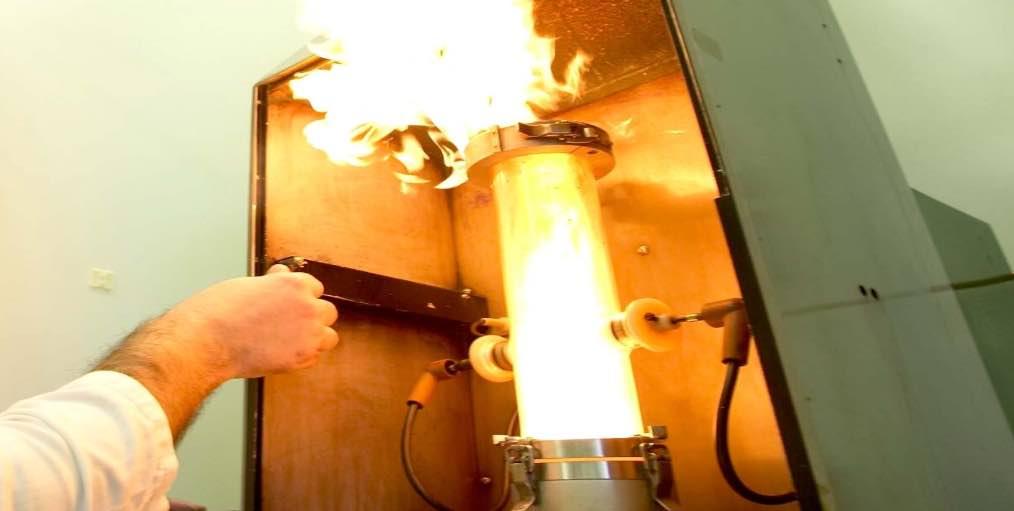 Essai d'explosivité en laboratoire